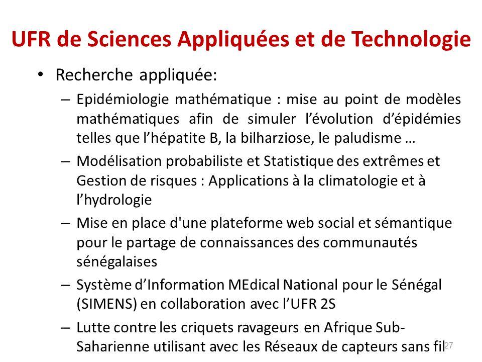 UFR de Sciences Appliquées et de Technologie