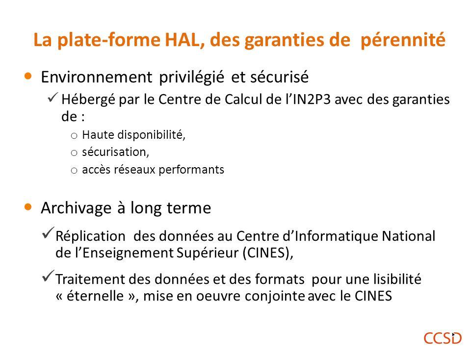 La plate-forme HAL, des garanties de pérennité