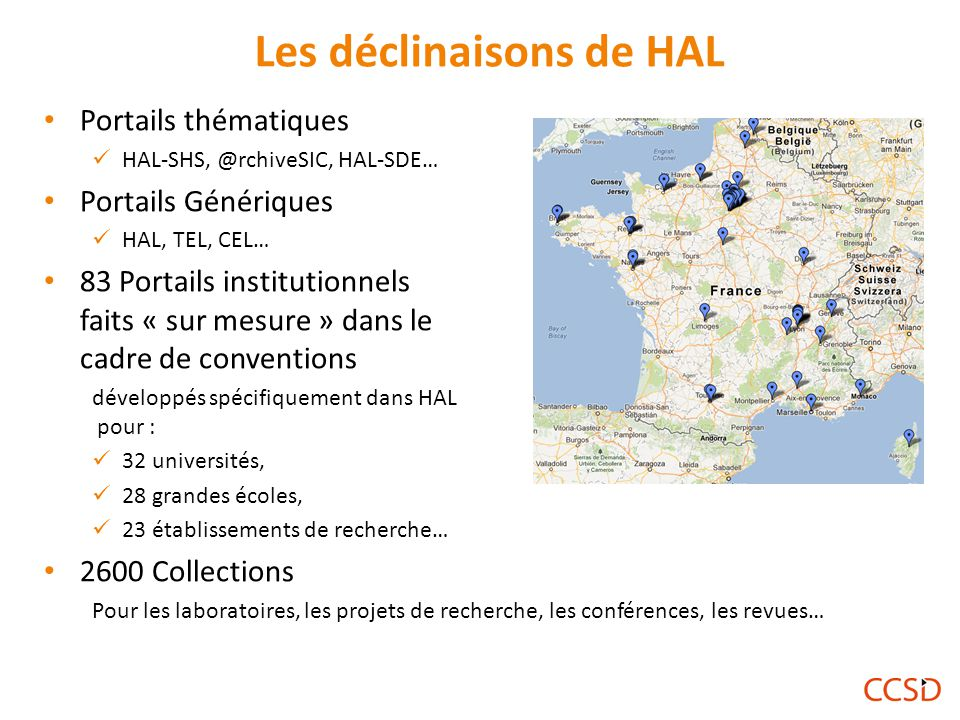 Les déclinaisons de HAL
