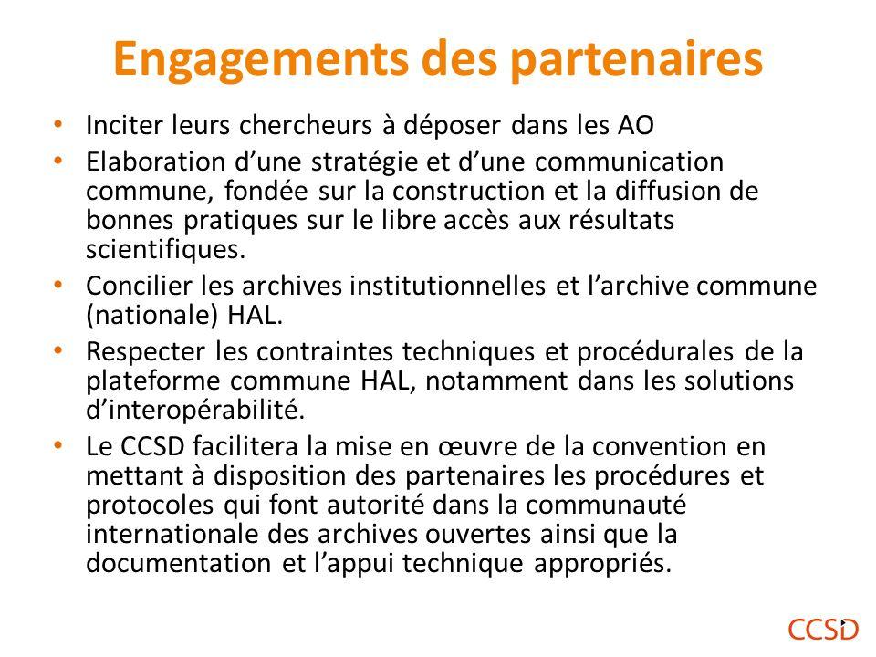 Engagements des partenaires