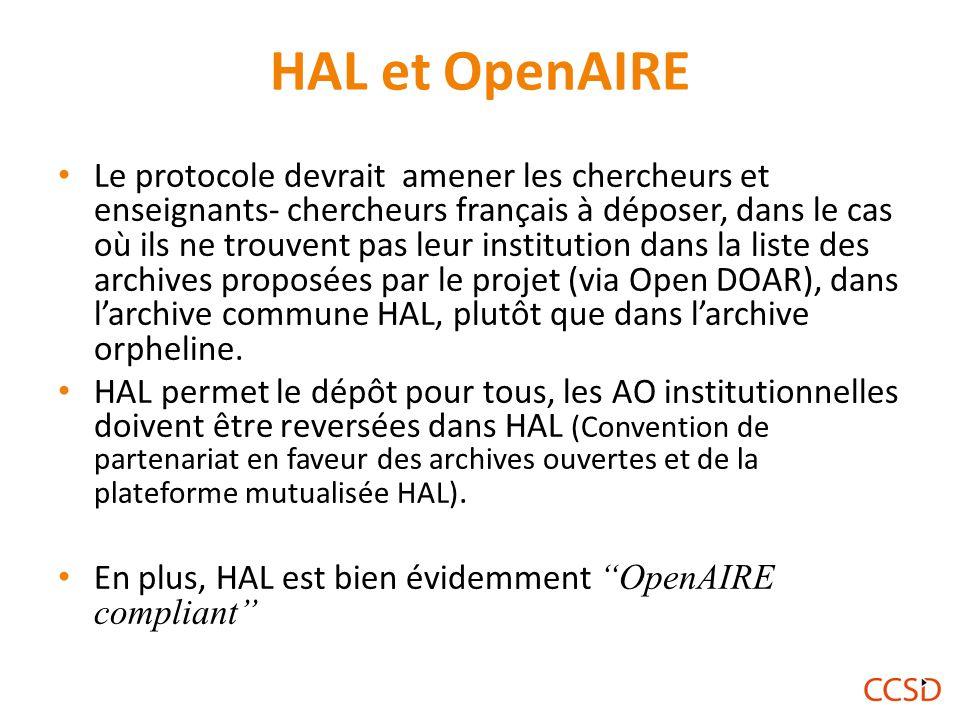 HAL et OpenAIRE