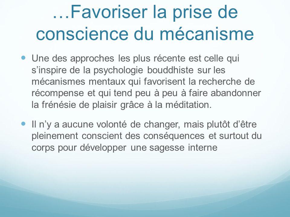 …Favoriser la prise de conscience du mécanisme