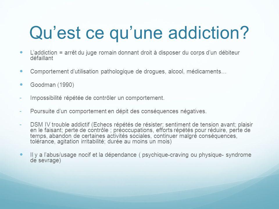 Qu'est ce qu'une addiction