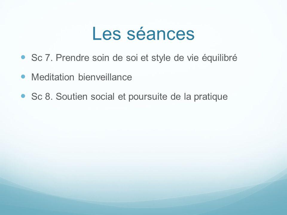 Les séances Sc 7. Prendre soin de soi et style de vie équilibré