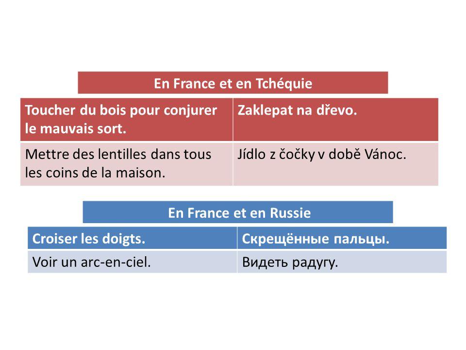 En France et en Tchéquie