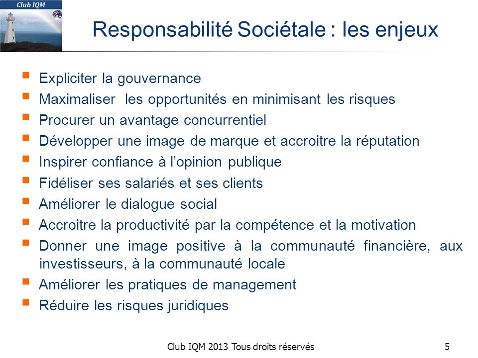 Responsabilité Sociétale : les enjeux
