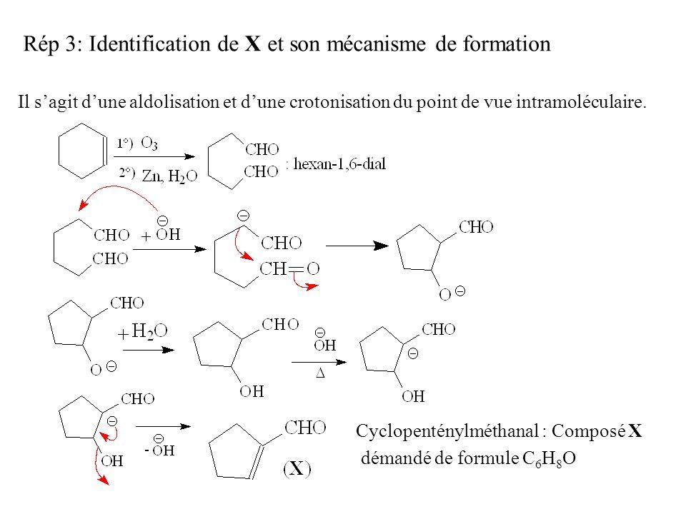 Rép 3: Identification de X et son mécanisme de formation