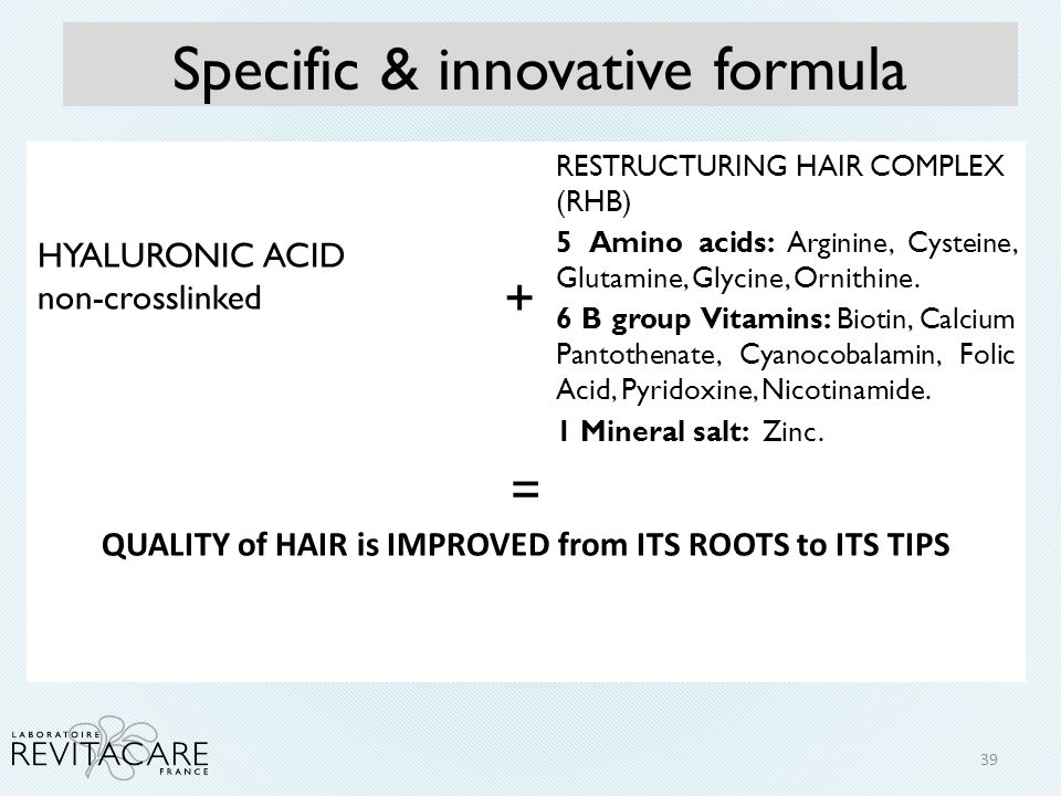 Quality of hair is improved from its roots to its tips