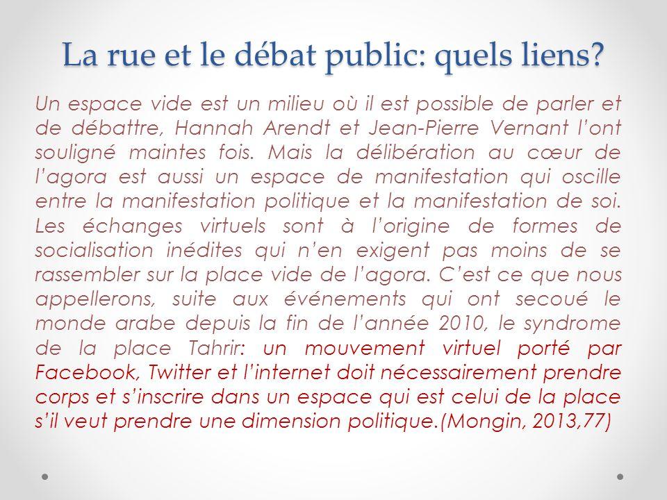 La rue et le débat public: quels liens