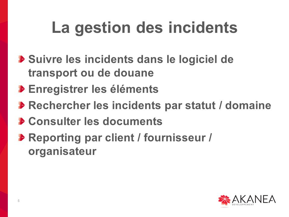 La gestion des incidents