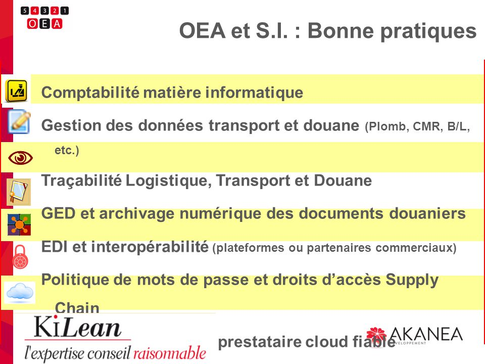 OEA et S.I. : Bonne pratiques