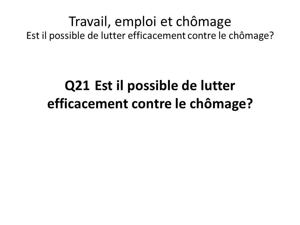 Q21 Est il possible de lutter efficacement contre le chômage
