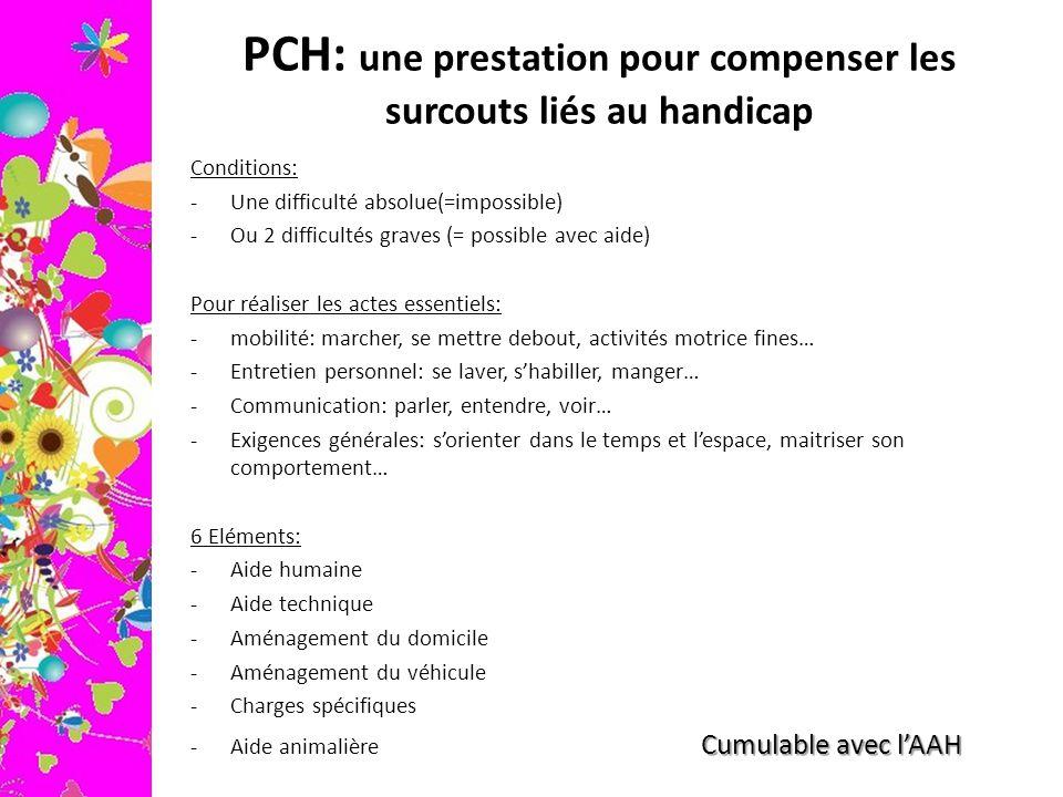 PCH: une prestation pour compenser les surcouts liés au handicap