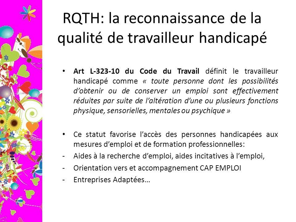 RQTH: la reconnaissance de la qualité de travailleur handicapé