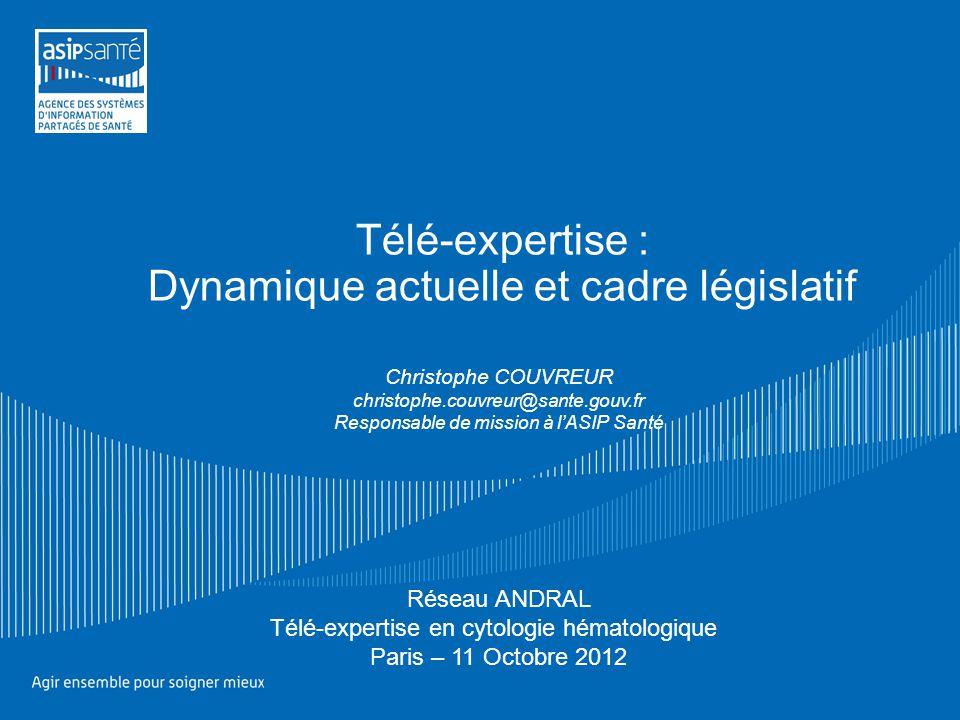 Télé-expertise : Dynamique actuelle et cadre législatif