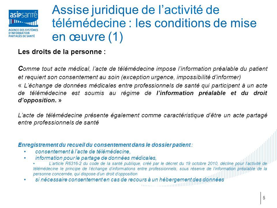 Assise juridique de l'activité de télémédecine : les conditions de mise en œuvre (1)