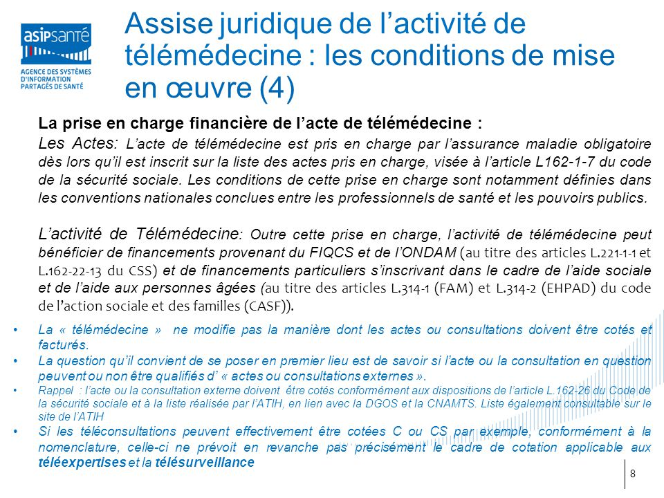 Assise juridique de l'activité de télémédecine : les conditions de mise en œuvre (4)
