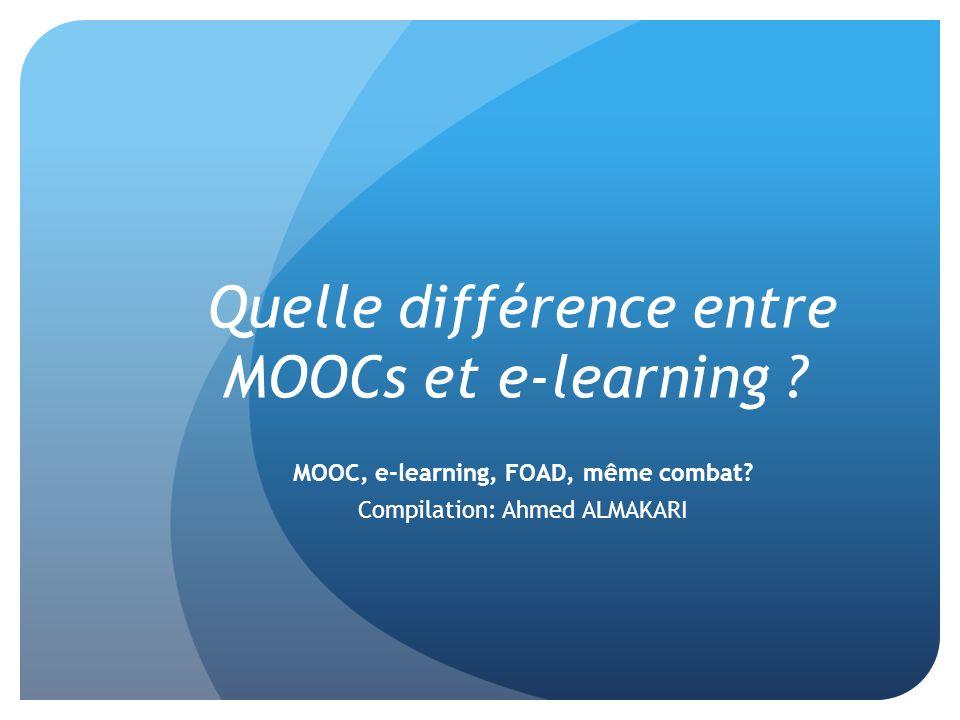 Quelle différence entre MOOCs et e-learning