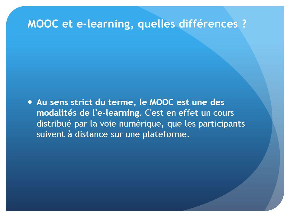 MOOC et e-learning, quelles différences