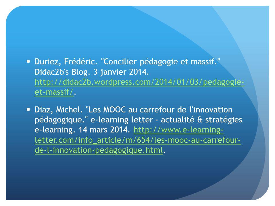 Duriez, Frédéric. Concilier pédagogie et massif. Didac2b s Blog