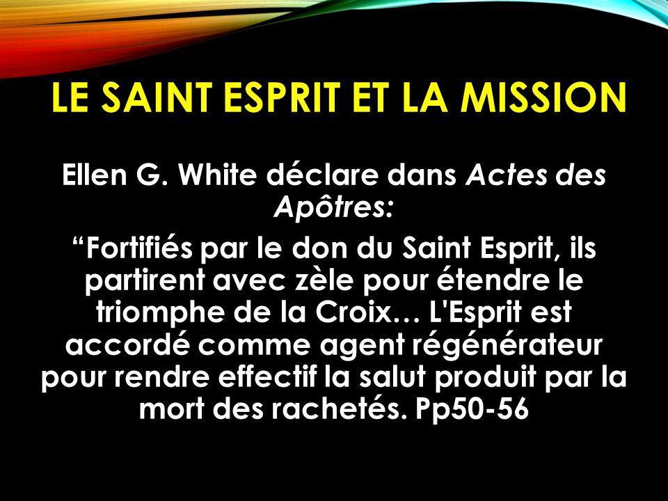 LE SAINT ESPRIT ET LA MISSION