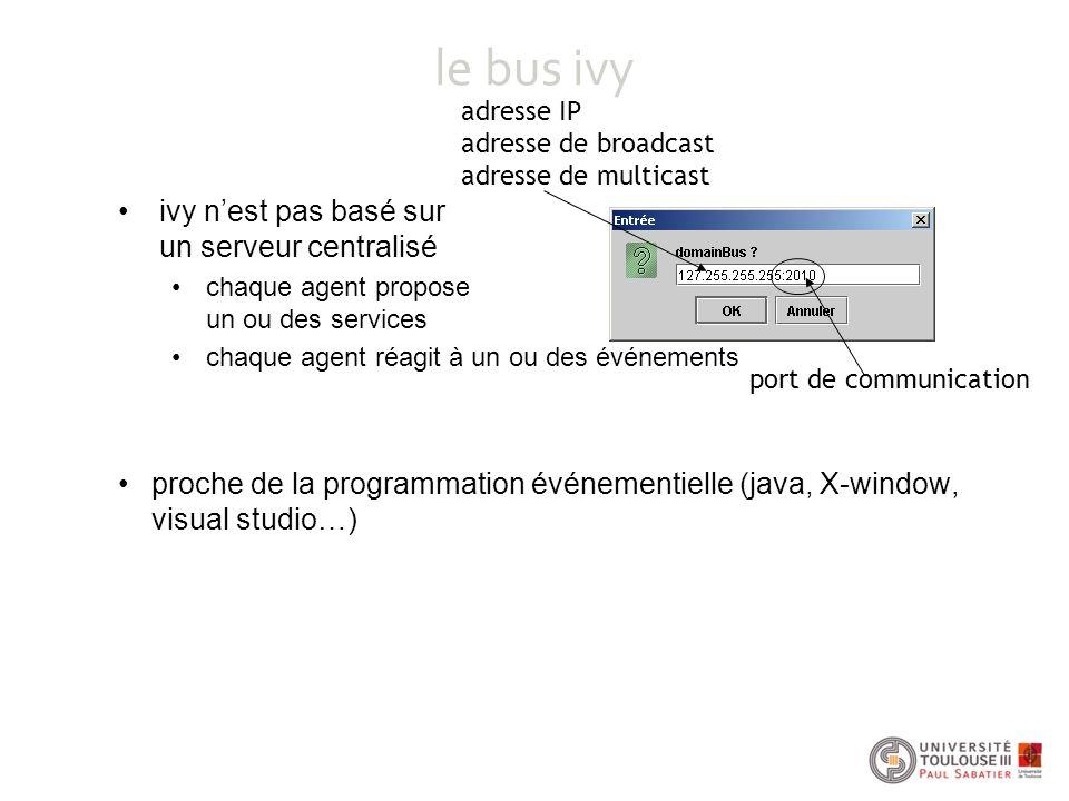 le bus ivy ivy n'est pas basé sur un serveur centralisé