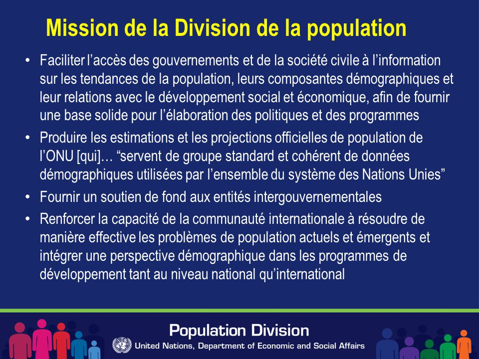 Mission de la Division de la population