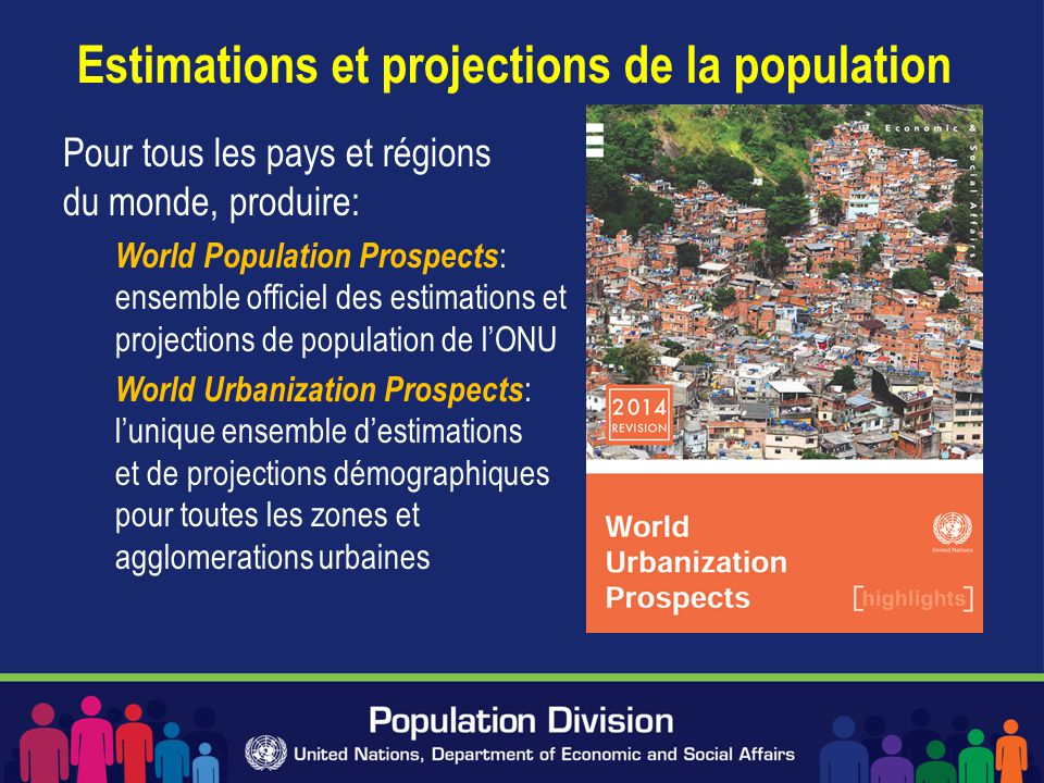 Estimations et projections de la population