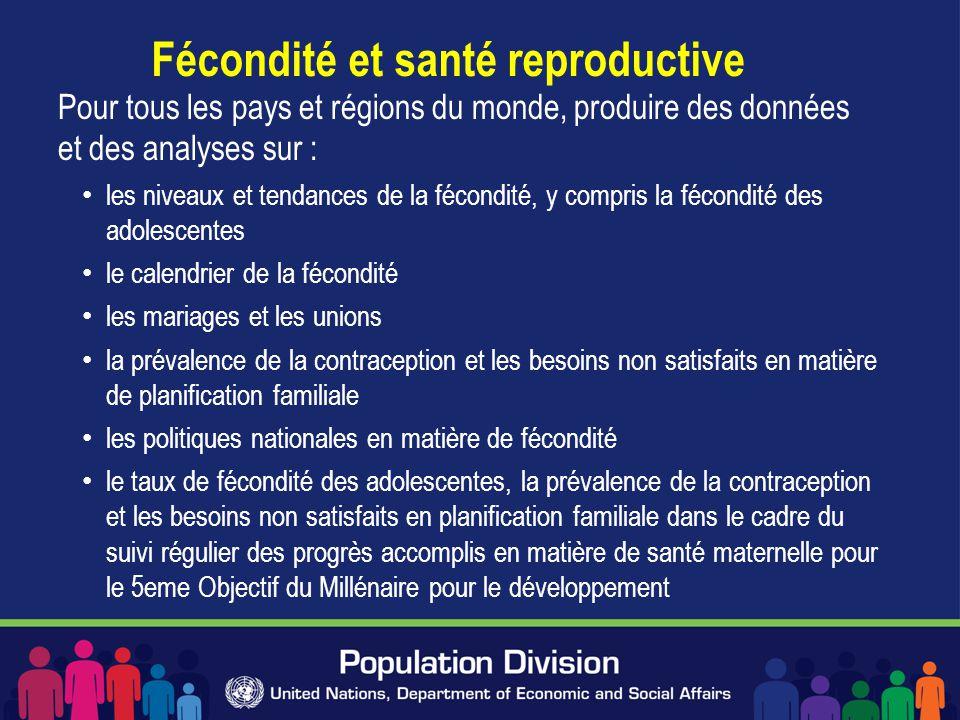 Fécondité et santé reproductive