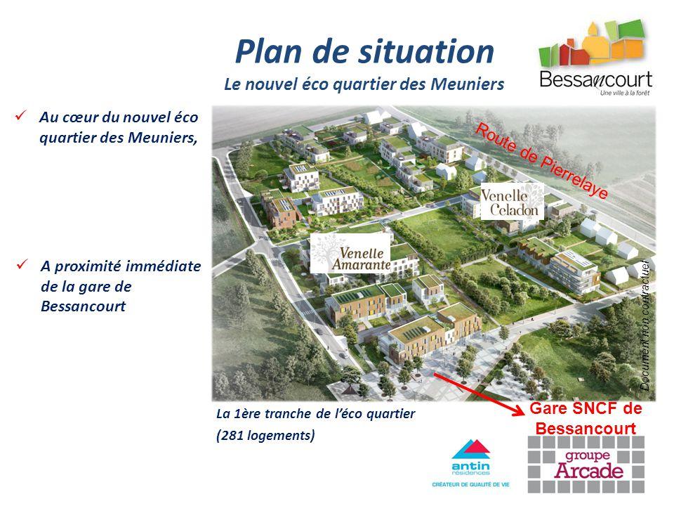 Le nouvel éco quartier des Meuniers Gare SNCF de Bessancourt