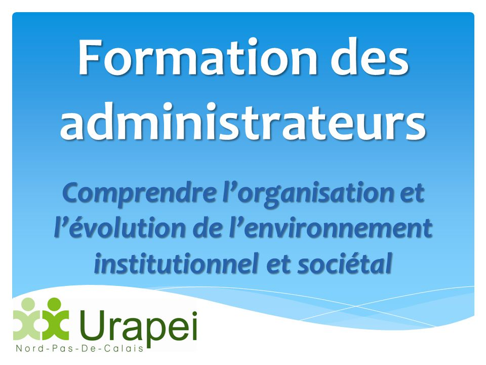 Formation des administrateurs