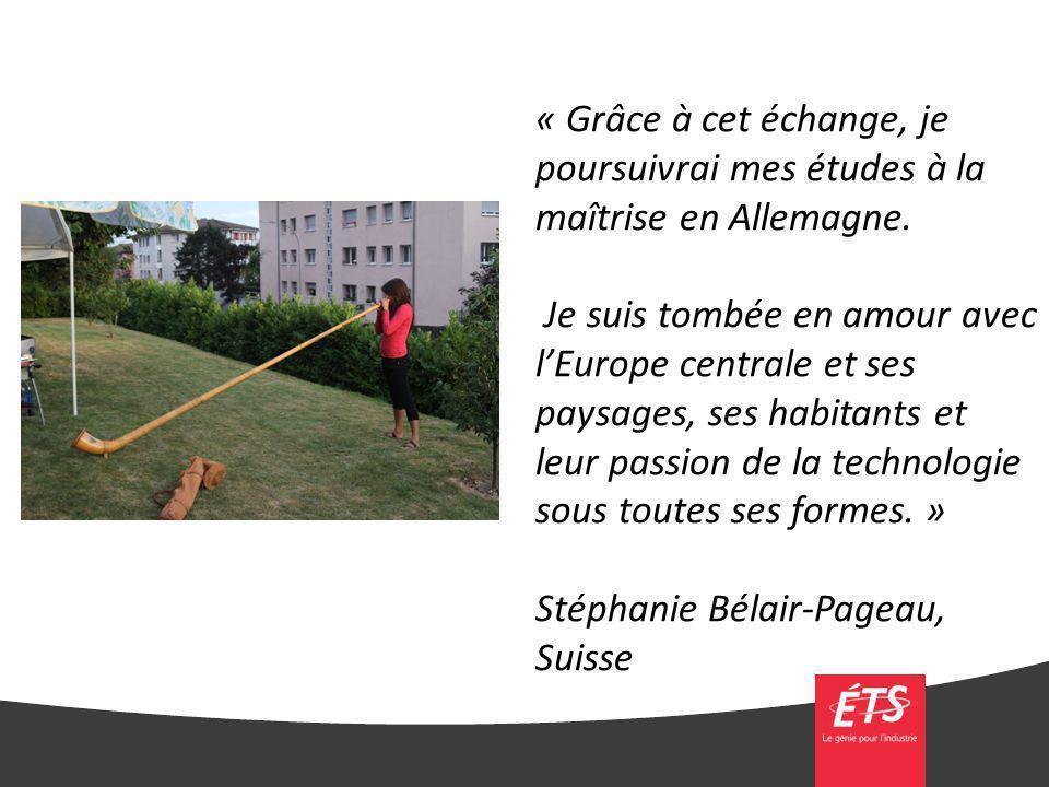 Stéphanie Bélair-Pageau, Suisse