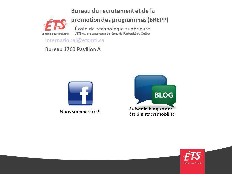 Bureau du recrutement et de la promotion des programmes (BREPP)