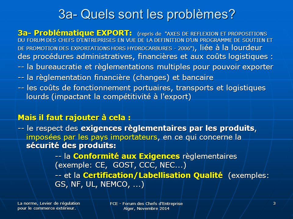 3a- Quels sont les problèmes