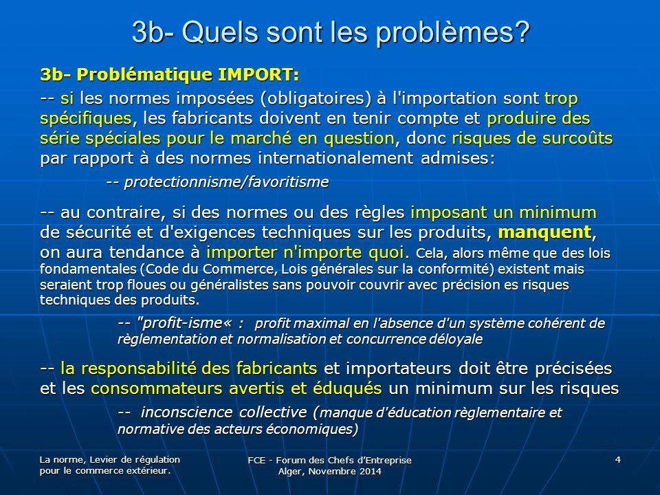 3b- Quels sont les problèmes