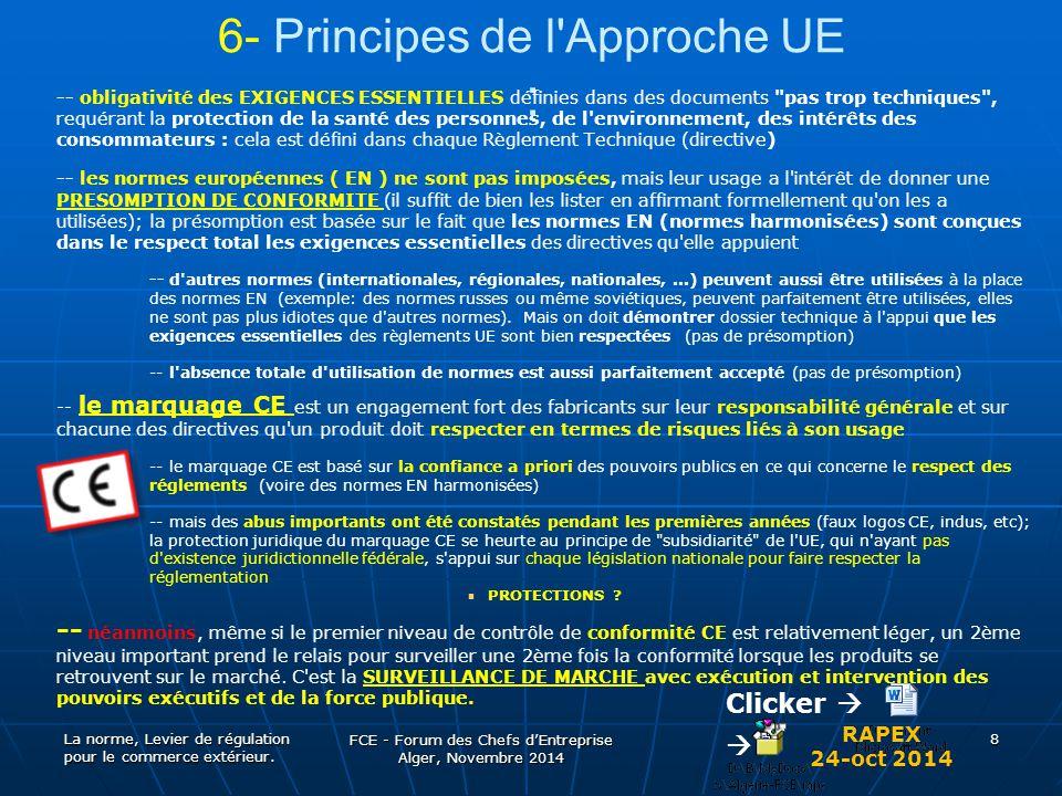 6- Principes de l Approche UE :