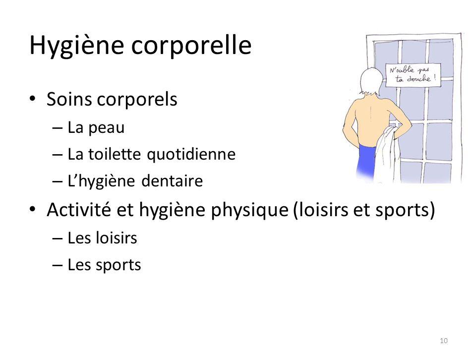 Hygiène corporelle Soins corporels
