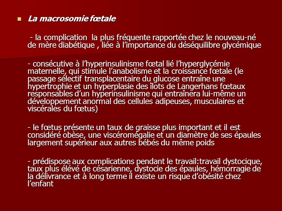 La macrosomie fœtale