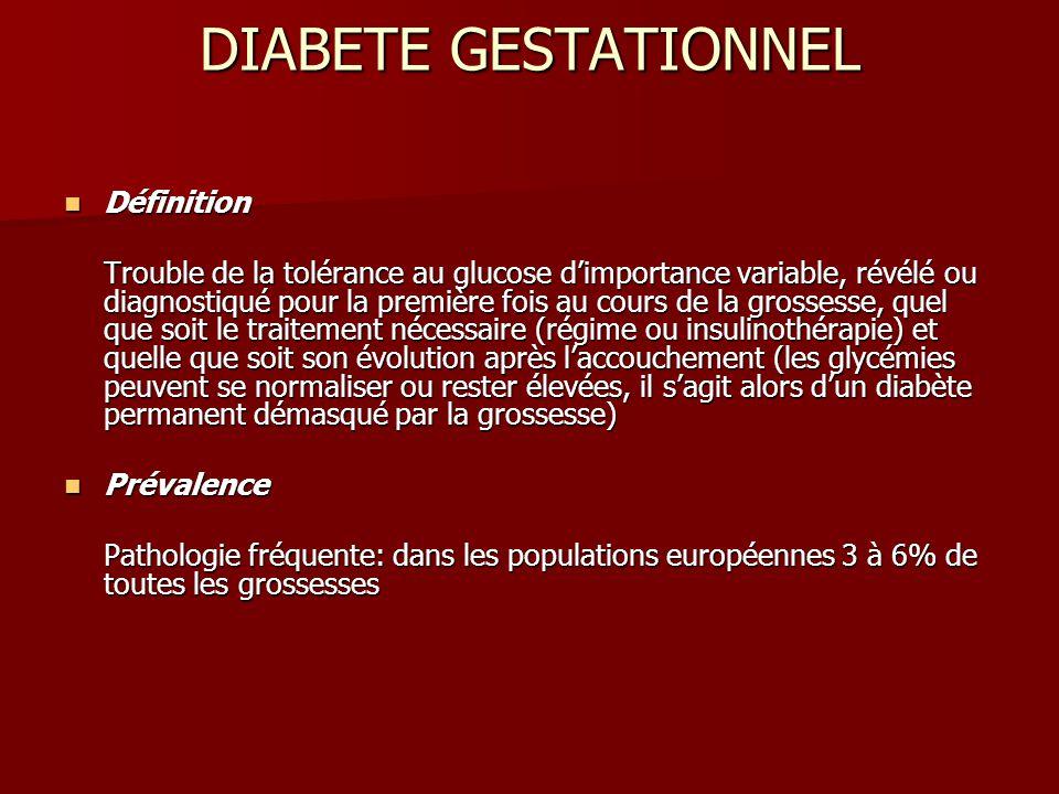 DIABETE GESTATIONNEL Définition