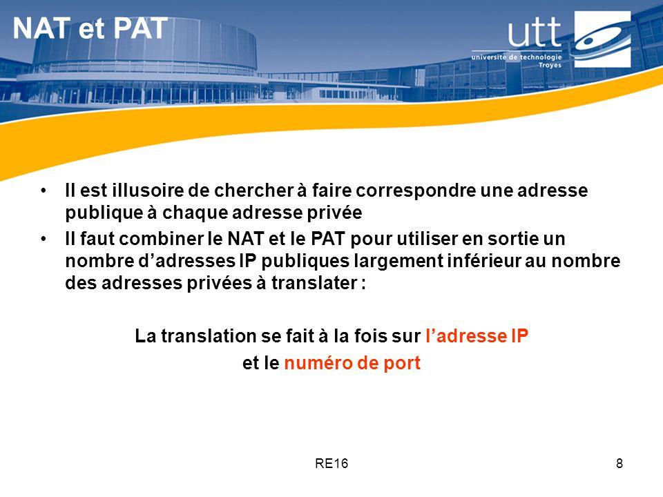 La translation se fait à la fois sur l'adresse IP