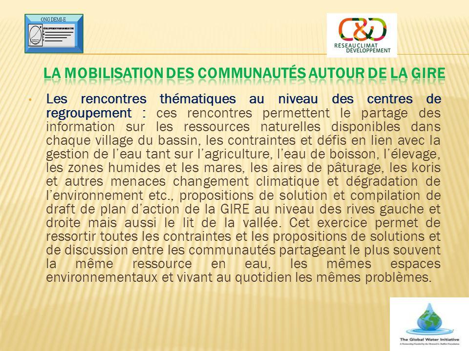 La mobilisation des communautés autour de la GIRE