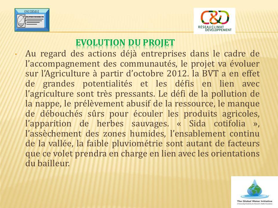 Evolution du projet