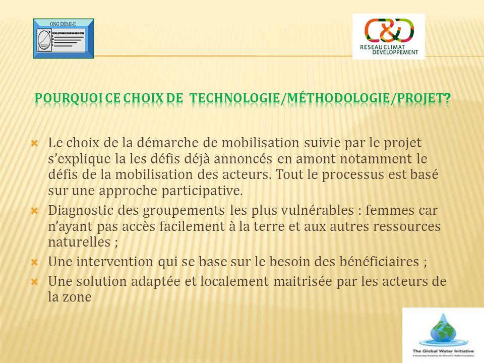 Pourquoi ce choix de technologie/méthodologie/projet