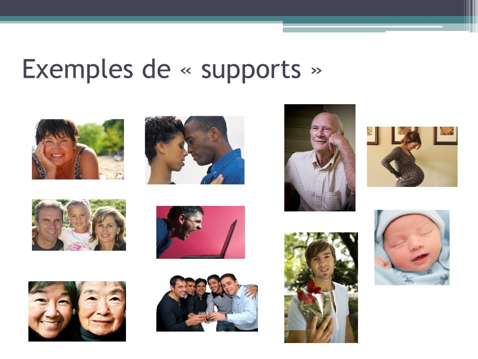 Exemples de « supports »