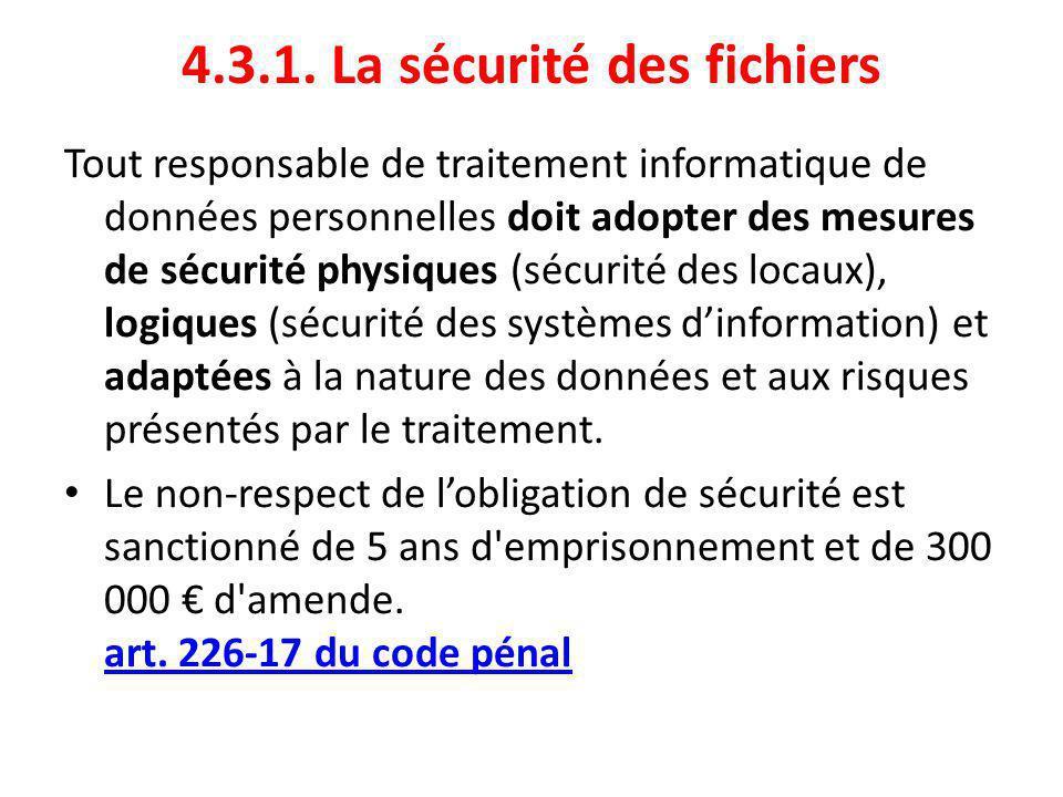 4.3.1. La sécurité des fichiers