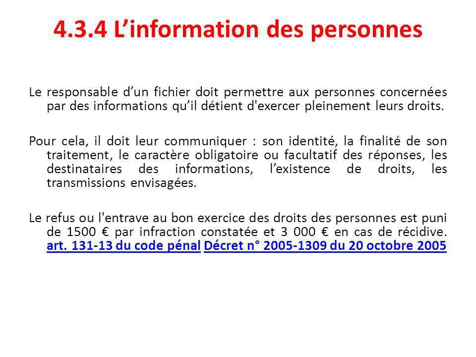 4.3.4 L'information des personnes