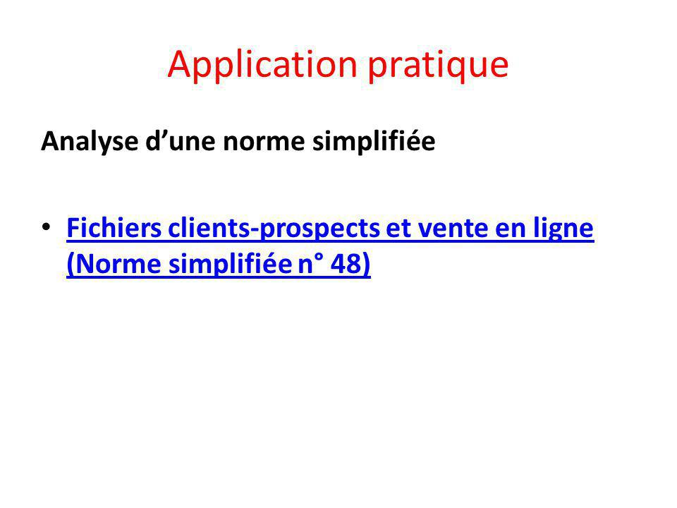 Application pratique Analyse d'une norme simplifiée