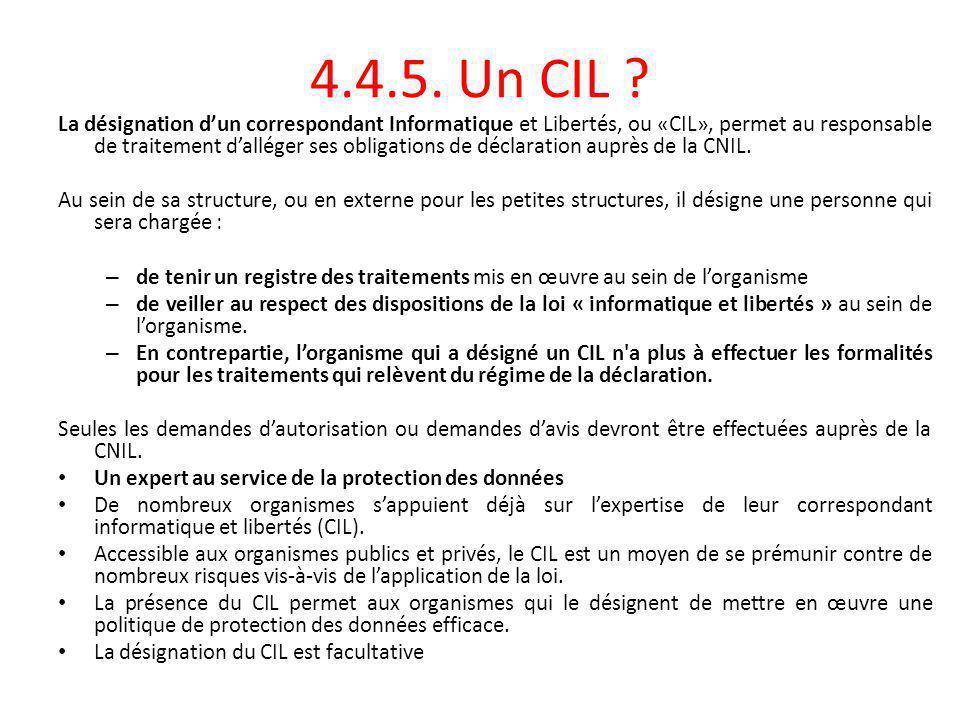 4.4.5. Un CIL