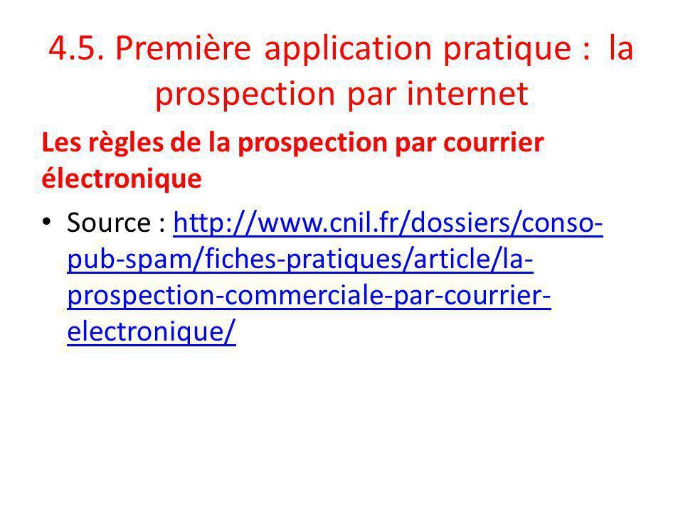 4.5. Première application pratique : la prospection par internet