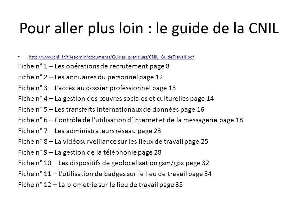 Pour aller plus loin : le guide de la CNIL